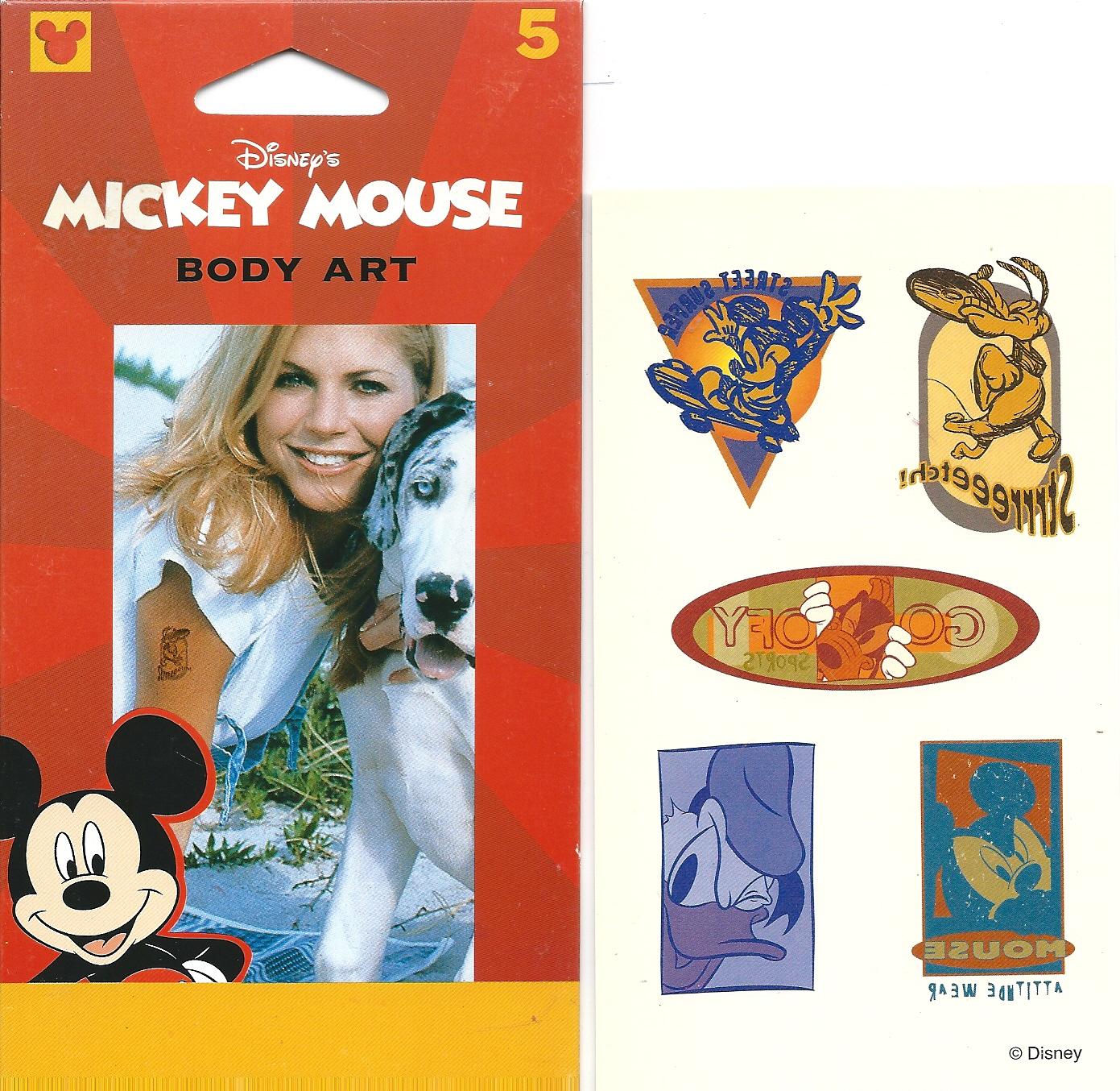 Disney Mickey Donald Goofy Pluto Body Art Temporary Tattoo S