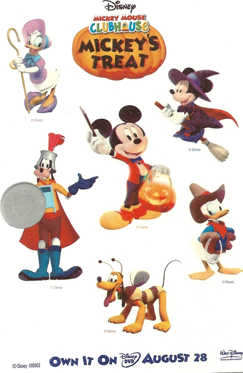 Mickey Mouse Clubhouse Mickey's Treat Temporary Tattoo Sheet