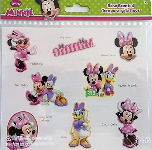 Disney Beach Minnie Mouse Rose Scented Temporary Tattoos