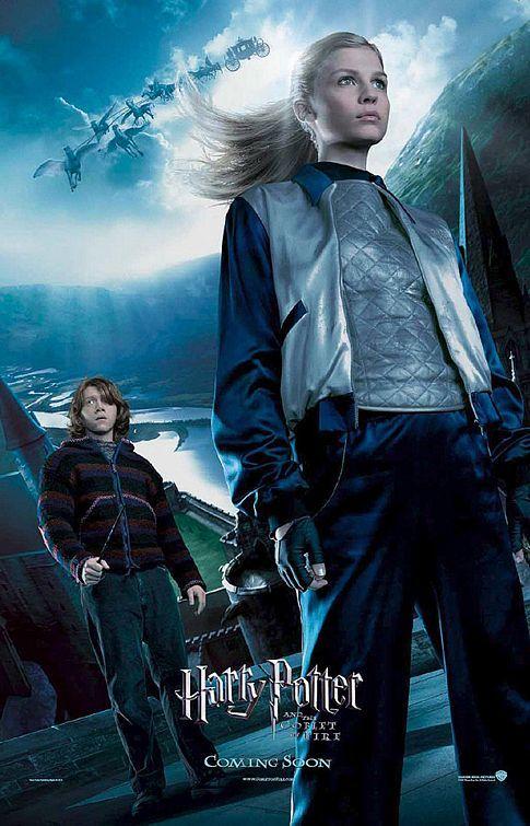 Goblet of fire fleur delacour ron weasley movie poster - Harry potter et la coupe de feu cedric diggory ...