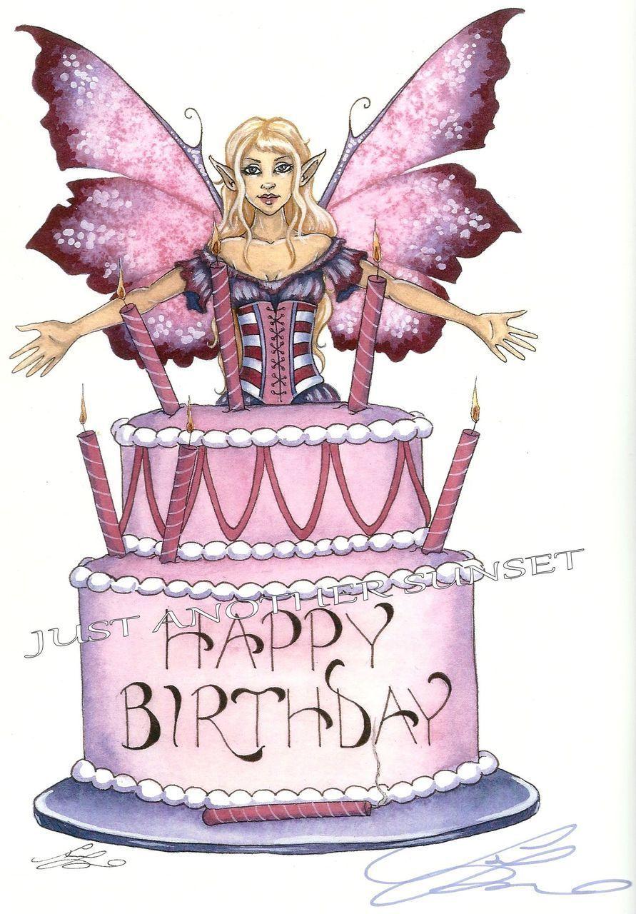Happy Birthday Fairy Print Amy Brown