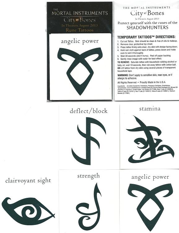 Mortal Instruments Set Of 5 Temporary Tattoos