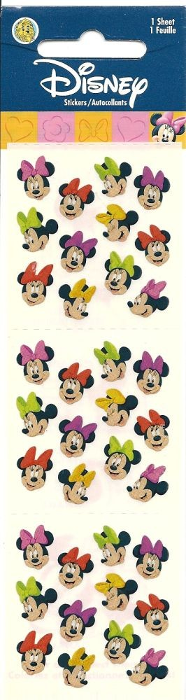 Minnie Mouse Metallic Stickers