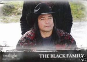 #22 The Black Family, Twilight Trading Card
