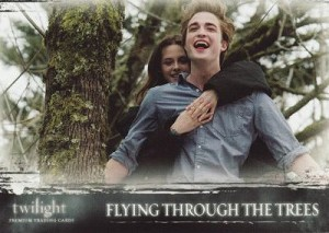 #52 Flying Through The Trees, Twilight Trading Card