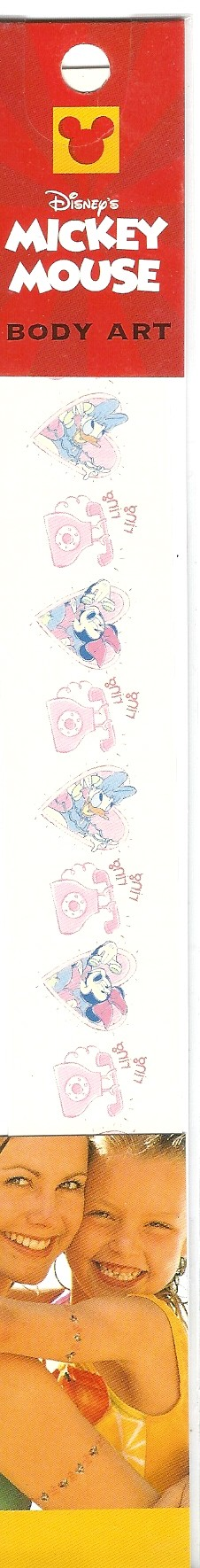 Disney Minnie Mouse Daisy Duck Body Art Temporary Tattoo's Arm / Wrist / Ankle Band