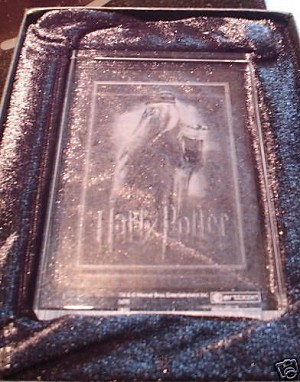 Harry Potter Crystal Case Topper Card Albus Dumbledore Clear