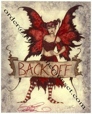 "Back Off Banner, Print 8.5""x11"" Signed"
