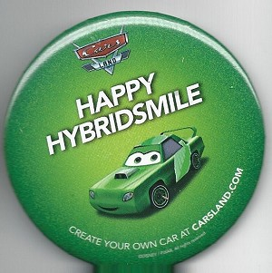 Disney Cars Land Button, Happy Hybridsmile
