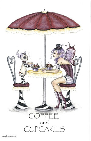 "Coffee and Cupcakes, Print 5.5""x8.5"""