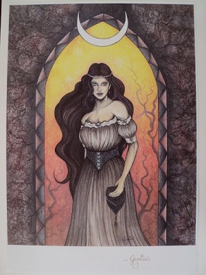"Enchanted Maiden, Print 11""x14"" Signed"