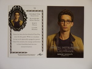 The Mortal Instruments, City of Bones, Base Character Trading Card, Simon Lewis CB-14