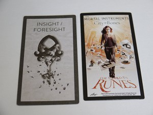 The Mortal Instruments, The World In Runes, Insight Foresight Card