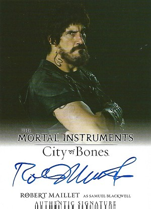 The Mortal Instruments, City of Bones, Authentic AutoTrading Card, Signed Robert Maillet as Samuel Blackwell