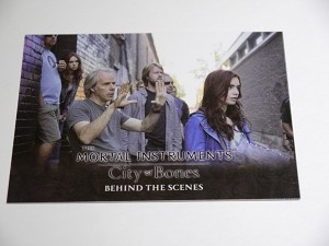 The Mortal Instruments, City of Bones, Behind The Scenes Trading Card, BHS-2