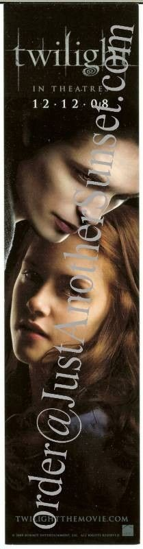 Twilight Movie, Promo Bookmark Collector Item Wrong Date