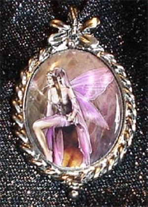 Amethyst Fairy, Cameo Necklace