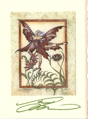 Arabesque, Signed Card