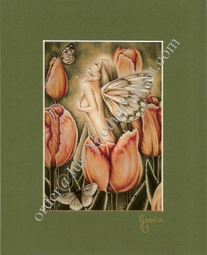 "Arrival of Spring Print Matted 8""x10"" Signed"
