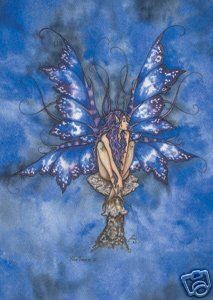 Blue Faerie, Greeting Card