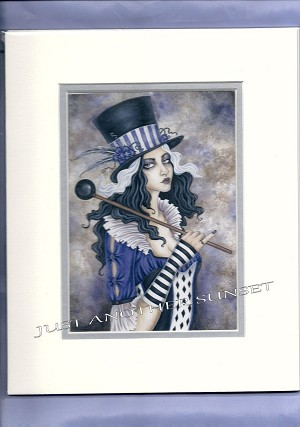 "Calliope, Print Signed Matted (off white) 8""x10"""