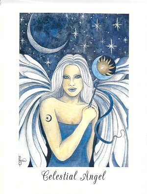 Celestial Angel, Note Card