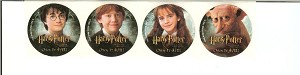 Harry Potter Dobby Ron Hermione Promo Stickers Set of 4