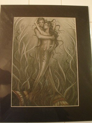 "Dark Embrace Print Matted 16"" x 20"""