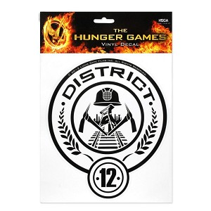 Hunger Games District 12 Jumbo Decal Sticker