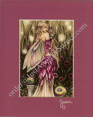 "Enchanted Garden Print Matted 8""x10"" Signed"