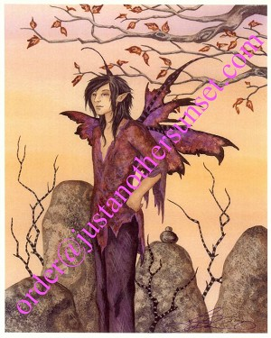 "Faery Boy, Print 8.5""x11"" Signed"