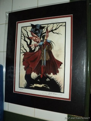Faery Moon, Limited Edition Print Matted