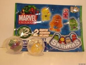 SDCC 2011 MARVEL SQUINKIES SERIES 2 HUMAN TORCH RARE NEW