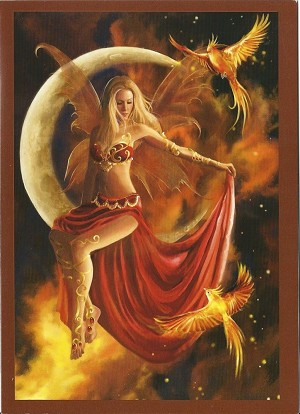 Fire Moon, Greeting Card