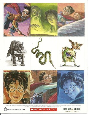 Harry Potter Book Cover Stickers