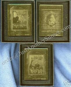 Harry Potter Crystal Case Topper Trading Card Set of 3