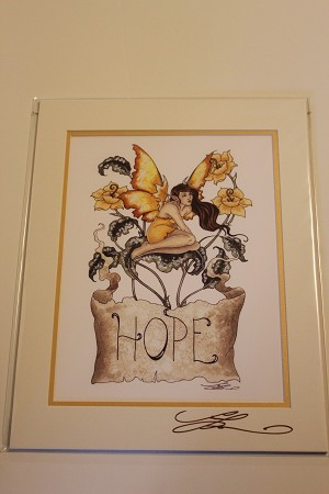 "Hope, Print Matted 8""x10"" Signed"