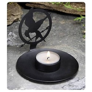 Hunger Games Tea Light Casting Shadows
