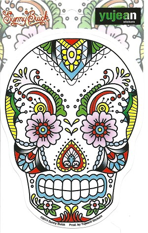 Lace Sugar Skull, Sticker