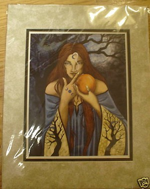 "Lady of Avalon, Limited Edition Print Matted 11""x14"""