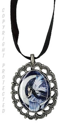 Moon Whispers, Cameo Choker Necklace