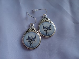 Moonchild Cameo Style Earrings