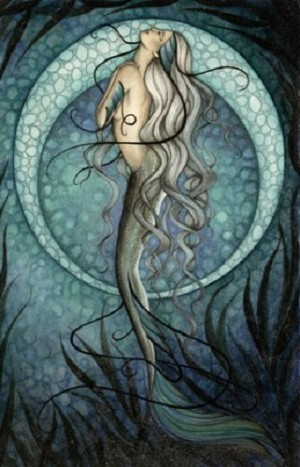 "Mystic Mermaid, Print 11""x17"""