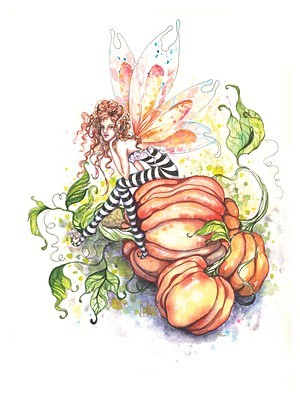 Pumpkin Patch Pixie, Greeting Card