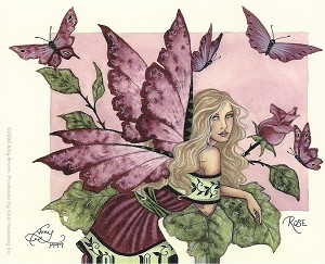 Rose Faery, Sticker