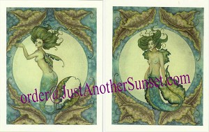 Mermaid Sea Bride I 2, Mini Litho Print Set