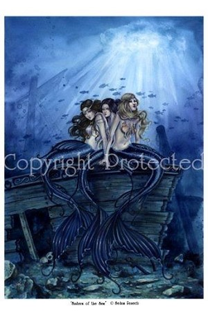 "Sisters of The Sea, Print 11""x17"""