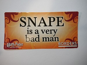 Snape is a very bad man, Sticker