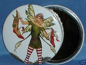 Stocking Fairy, Round Magnet