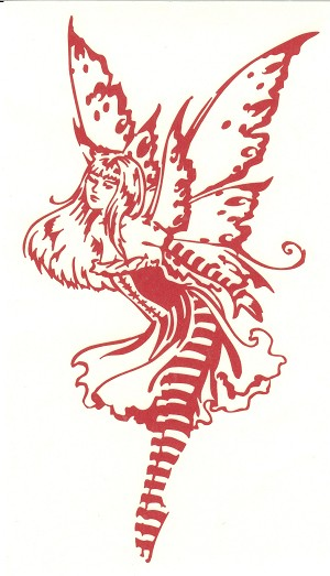 Sweet Fairy Red Auto Decal Sticker